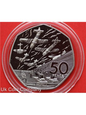 1994 royal mint D Day landings silver fifty pence proof coin